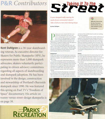 Parks and Recreation Magazine Article