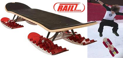 Railz for snow skate skiing