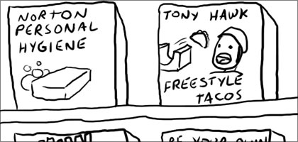 Tony Hawk in a comic strip