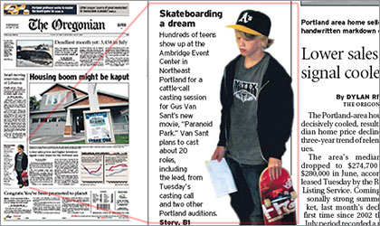 Gus Van Sant casting for skateboarders Article in the Oregonian