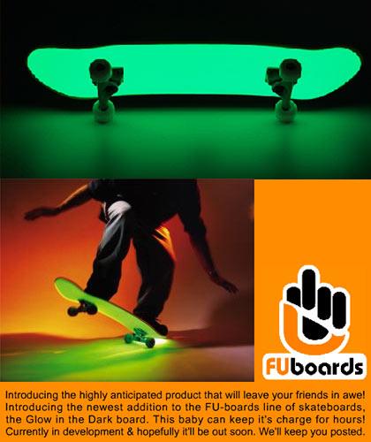 FU Glowboard details