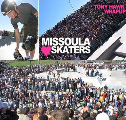 Tony Hawk In Missoula Montana Skate Park