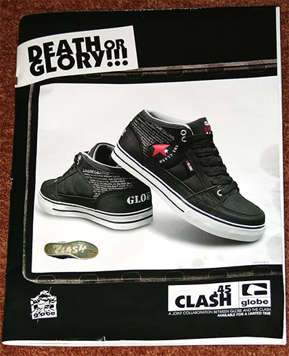 Clash Shoe Globe Advert