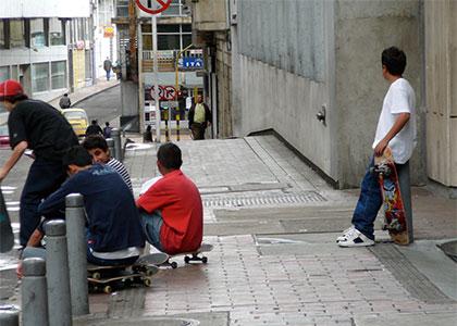 Bogota Colombia Skaters