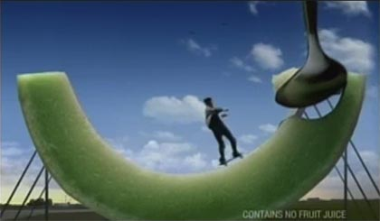 Gatorade Propel commercial with skateboarding
