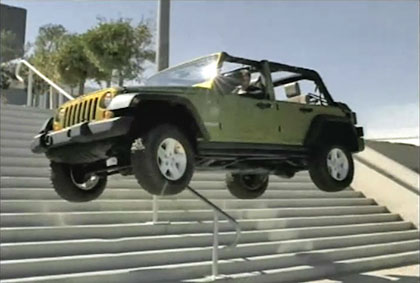 Tony Hawk in Jeep - Sirius commercial