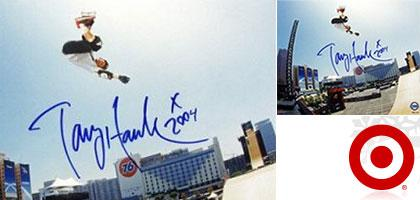 Tony Hawk 2004 LA X-Games Big Air Signed Photograph