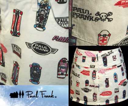 Paul Frank Skateboard logo skirt