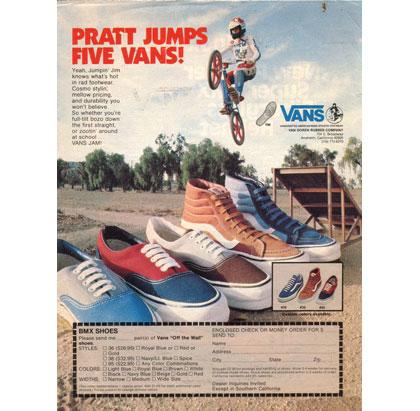 40 years of Vans on ABC news - old Vans adverts