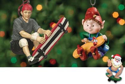 Xtreme Christmas skateboard ornaments