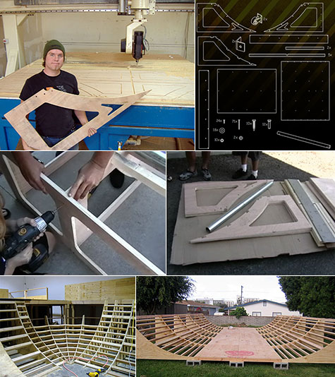 Jim Bell Skateboard ramps