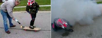 Rocket powered skateboard