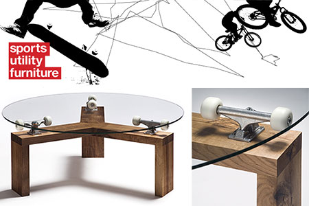 Sports Utility Furniture - 360 skateboard truck table