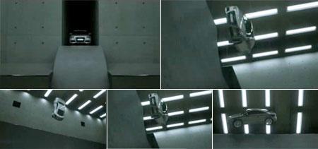 Audi TT car as skateboard commercial