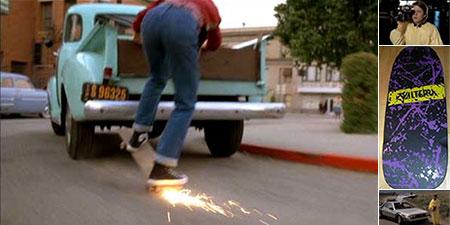 Back to the Future skateboard prop replicas.