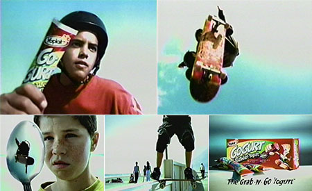 Yoplait GoGurt skateboarding commercial