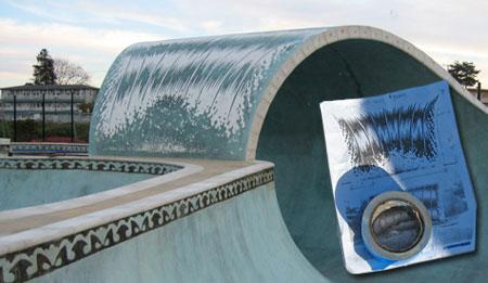 Santa Cruz Skate park wave art