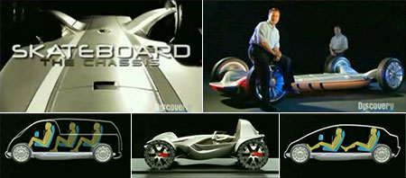 Car of the Future: Skateboard on Discovery Channel