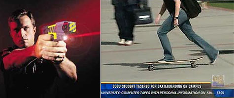 Whiny Skateboarder Tasered by Police