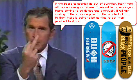 George Bush Skateboards and the War on blanks