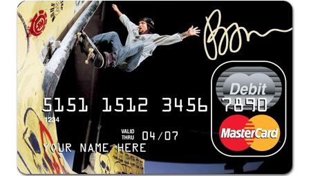 Bam on a prepaid credit/debit card