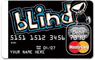 Blind on a prepaid debit credit card