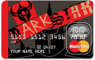 Darkstar on a prepaid credit/debit card