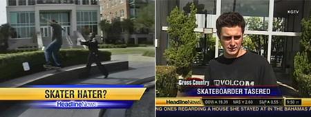 Skateboard harassment on CNN