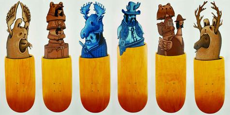 Skateboard Decks Wall Art Decks at a Skateboard Art