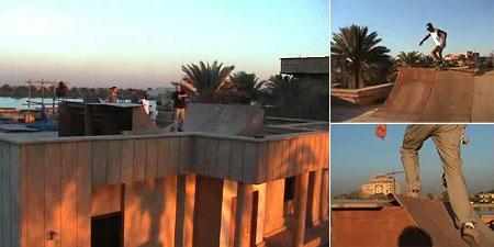 Skateboarding on Saddam's Palace