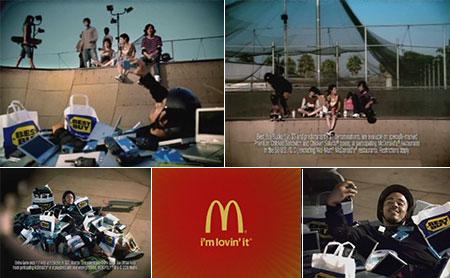 McDonald's Monopoly commercial skateboarding