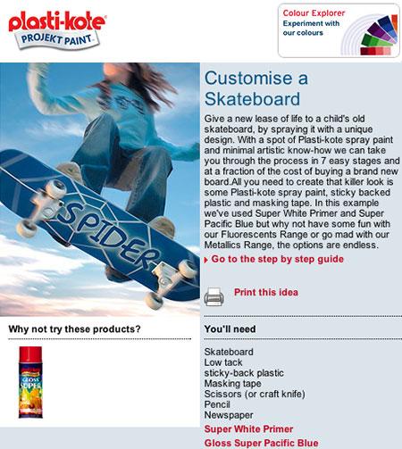 Plasti-Kote customize a crappy skateboard