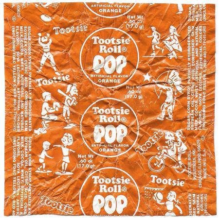Tootsie Pop Wrapper with skateboarders