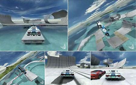 Trackmania car as skateboard