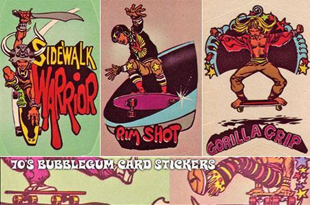 70's bubblegum skateboard trading cards