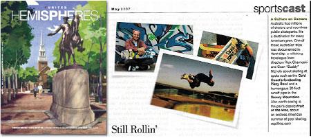 Skateboard australia in Hemispheres Magazine