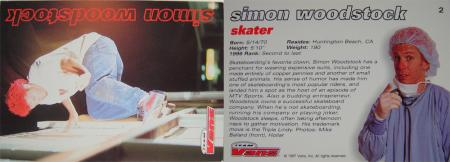 Simon Woodstock trading card