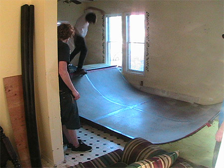 Ramp in condemned house