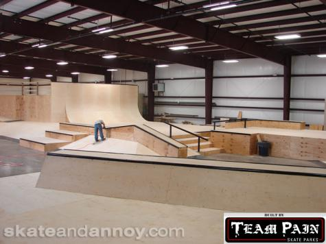 Team Pain builds new indoor bowls and street for Eastern