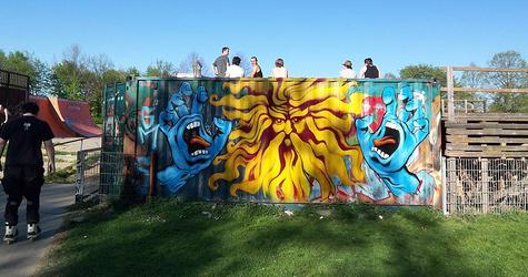 Jim Phillips graffiti in Germany