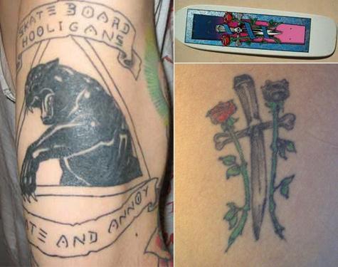 Skate tattoos
