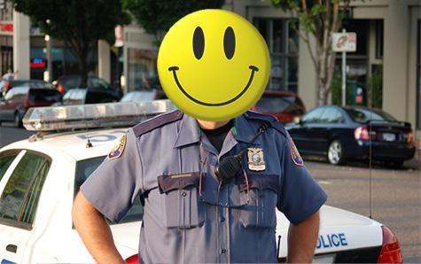 happy cop