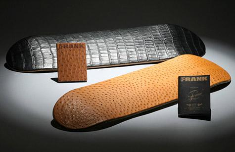 Leather skateboard