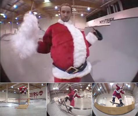 Santa Claus skates