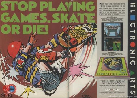 Skate or Die Advert