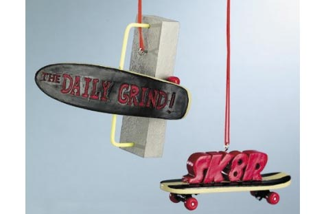 Skateboard Christmas Ornaments