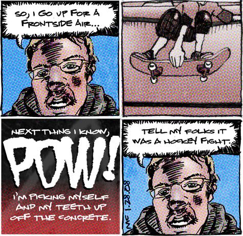 comic about JFs skate accident