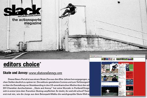 Skate and Annoy in Slack Magazine