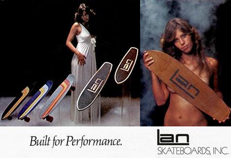 Vintage Lan Skates ads