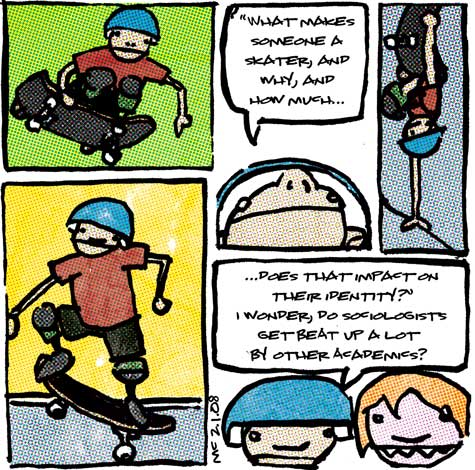 comic about the sociology of skateboarding